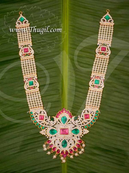 Haaram Long Moti Necklace For Hindu Statues Buy Now 14 inches
