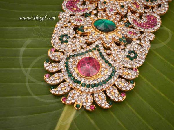 Haram Centre Piece Necklace Swamy Decoration Jewellery for GOD 6.5