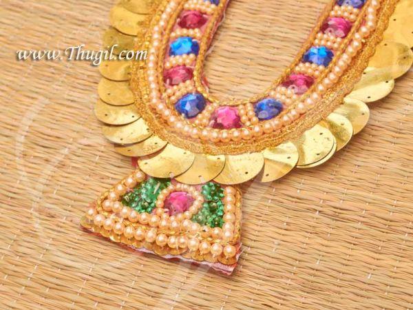 Hindu Deity Necklace Chest Kavasam Accessories God Sringaar Buy now 8