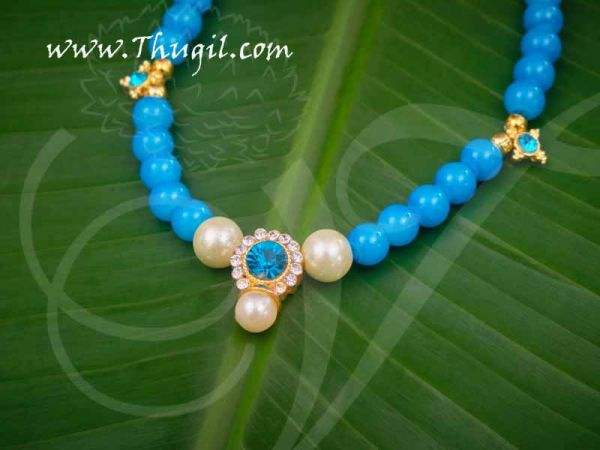 Small Deity Blue Beads Necklace Jewellery Ornament for Hindu Buy Now 6