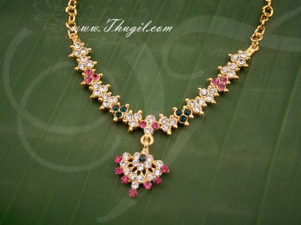 Small Size Deity Necklace Jewellery Stone Ornament for Hindu  For Small Idols