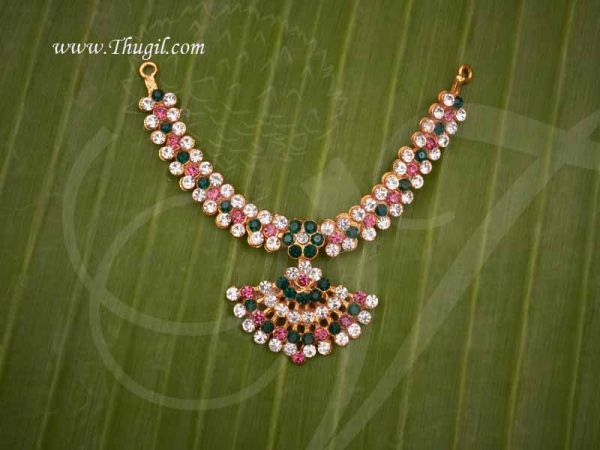 Necklace For Small Idols Statues Multi Stone Jewellery Buy Now 2.5