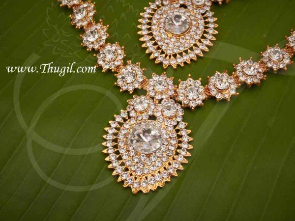 Necklace 2 Step Full White Jewellery Amman Alangaram Jewellery Buy Now 5.5