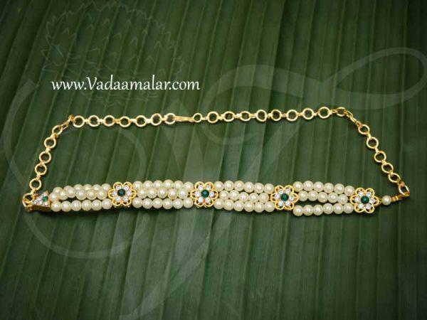 Small Oddiyanam Pearl Waist Hip Belt Jewellery statue