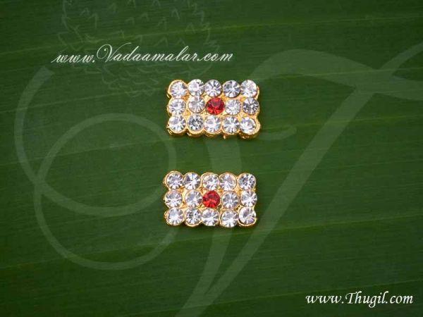 0.4 Inch Tripundra Symbol Jewellery Vibuthi Siva Pattai Idol 2 pcs Buy Now