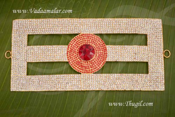 Tripundra Symbol Jewelry Ornament Vibuthi Pattai Statue Diety Sivan Jewellery 4 x 8