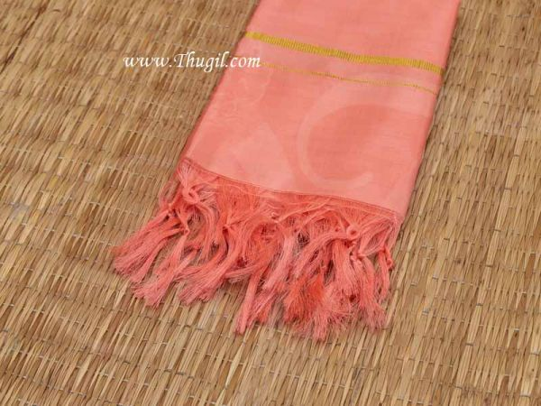 Pure Silk Orange Vastra Fabric for Sai Baba Decorations Buy Now