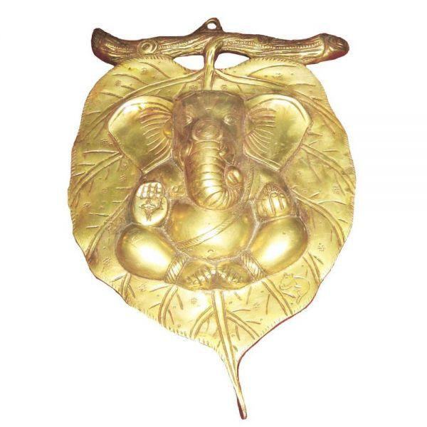 Lord Ganesha Leaf  Wall Hanging