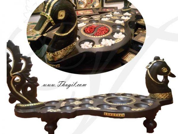 Teak wood Peacock Design Pallankuli pallanguli pallankuzhi Set Buy Now