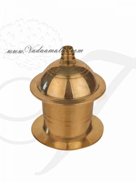 Brass Kumkum Box Gift Holder Available online from India 2