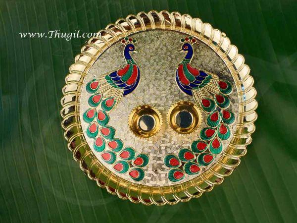 Puja plate kumkum chandhanam holder box Indian India Gift