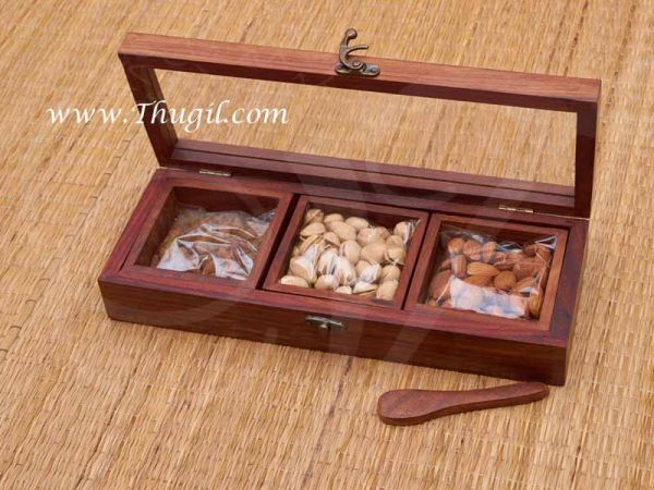 Wooden Dry Fruit Storage Indian Design Gift Box Buy Now
