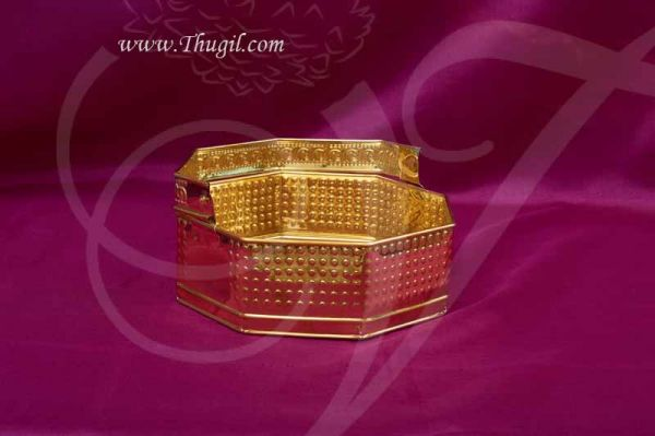 Brass Flower Basket For Pujja Sajja Buy Now 9 inches