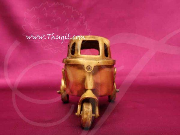 Vintage Auto Rickshaw Miniature Brass in Indian Design Showpiece Buy Now