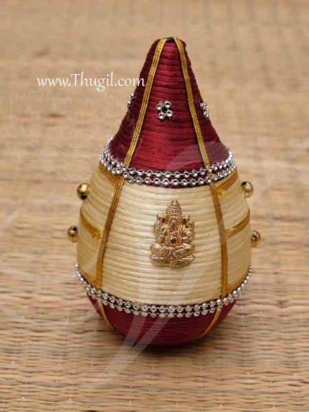 Coconut For Kalasam Sombu Shagun Nariyal Decorated Plastic Buy Now 5.5
