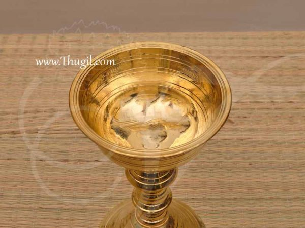 Brass Offering Stand Floral and Fruit Bowl Buy Now 8 Inches