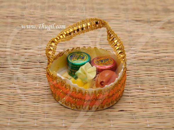 Gift Bag KumKum Turmeric Box Thamboolam Set Buy Now 10 pieces