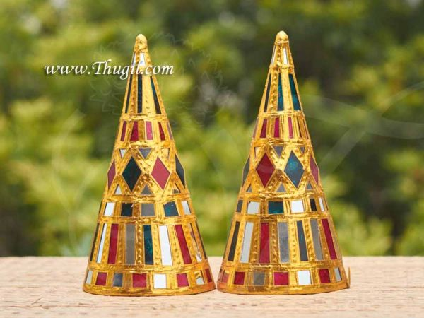 Tanjore Art style Parupu Cone for Weddings Traditional ceremony Suswaad Paruppu Thengai Seer