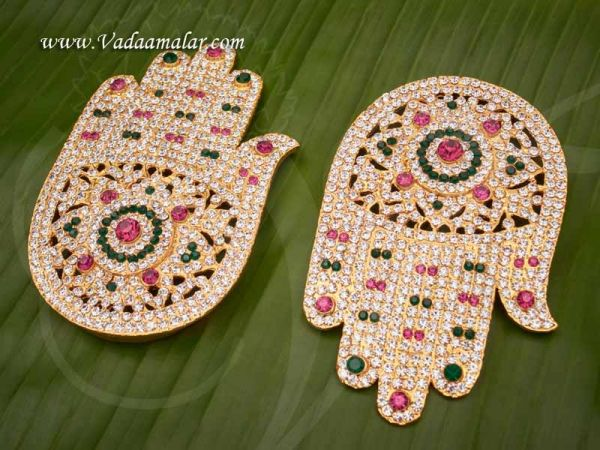 Hastham For Gods and Goddesses Swami Alankaram Ornaments Buy Now 3.5 inches