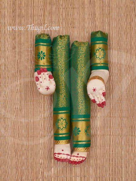 Zari Design Goddess VaraLakshmi Amma Hand and Legs for Decoration Buy Now 12