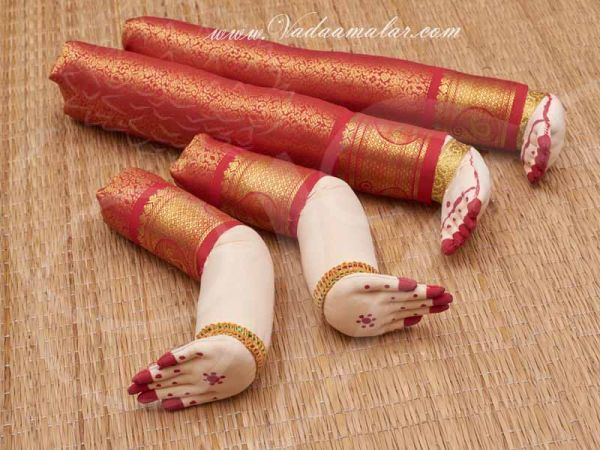 Zari Design Goddess VaraLakshmi Amma Hand and Legs for Decoration Buy Now 16