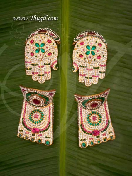 Hastham and Paatham Deity Vigraha Palm Feet Decoration for Temple Buy Online 3