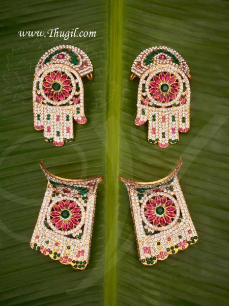 Hastham and Paatham Deity Vigraha Palm Feet Decoration for Temple Buy Online 2.5