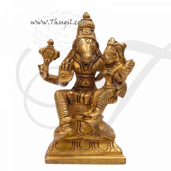 Lord Lakshmi Hayagriva Statue Moorthi Brass idol Buy Online - 5 inches