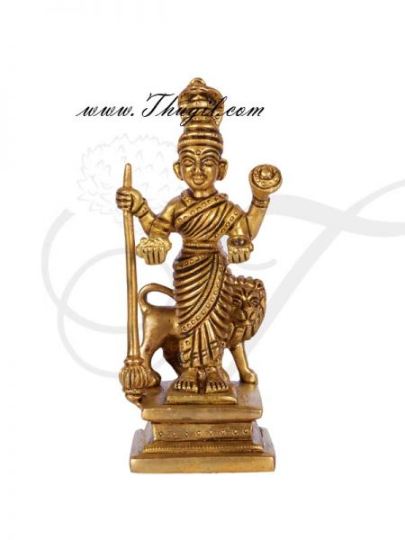Brass Kolhapur Mahalakshmi  Vaishnavi Devi Hindu Religious Goddess Statue Buy Now 6