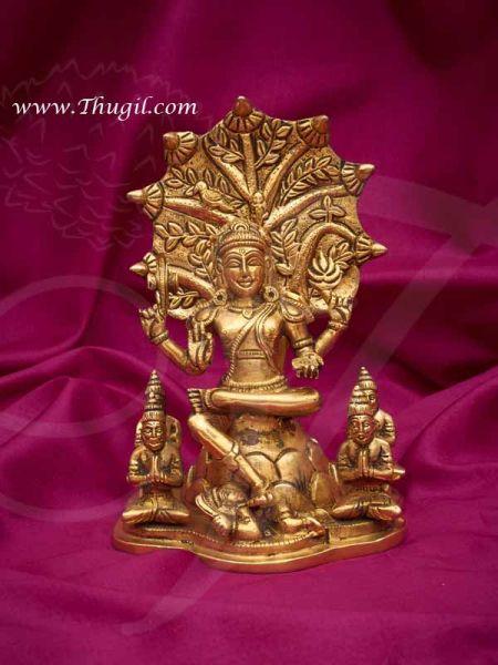 Brass Lord Dakshinamurthy ThasnaMurthi Statue Buy Now 7 inches