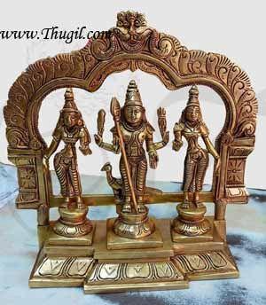 8 inches Murugan Valli Deivanai Brass Statue Available online