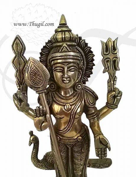 12 inches KARTIKEYA  Murugan Murugar Brass Statue Buy Now