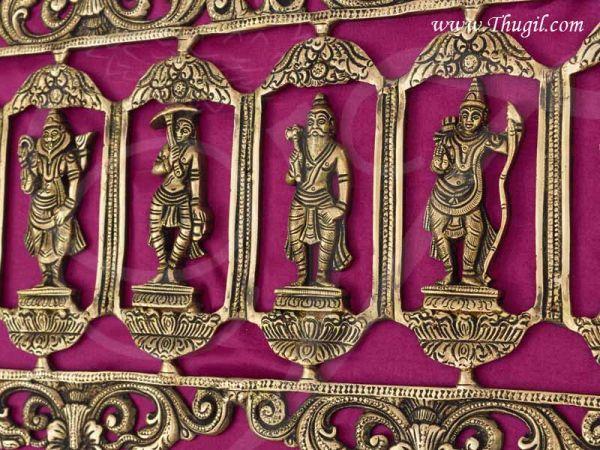 Dashavatara Wall Hanging 10 Vishnu Avatars Idol Brass Set Buy now