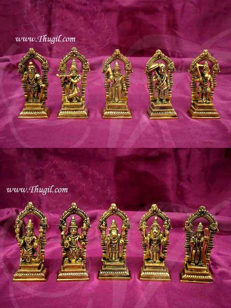 Dashavatara Brass Statue Set  10 Vishnu Avatars Buy Online 3 Inch
