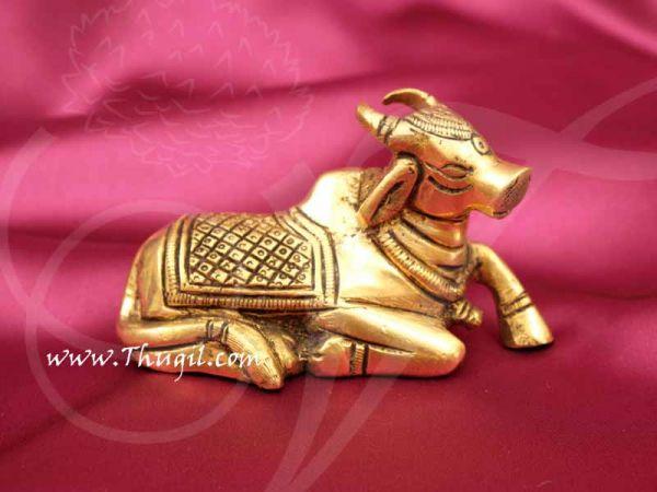Nandi Brass Statue India Bull for Lord Shiva Shop Online - 2