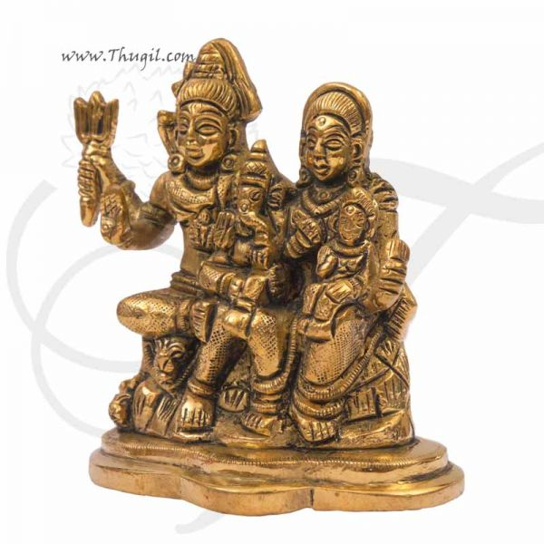 Hindu Lord  Shiva Family in Brass Buy Now 3.8