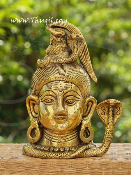 Brass Lord Shiva Head Statue And Sculptures Buy Now 7
