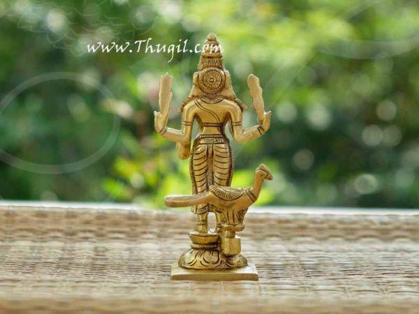 Brass Murugan Valli Deivanai Statue Buy Now 5.5
