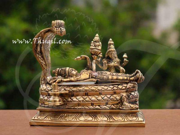 Brass Lord Anantha Padmanabha Resting Sheshnag Touching Shiva Lingam Buy Now 6
