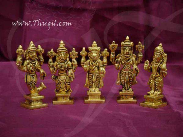 Dashavatara Brass Set 10 Vishnu Avatars Statues Set Buy Now 3.5
