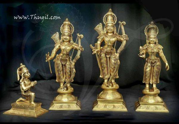 Rama Sita Lakshmana and Hanuman Brass Idol Buy Now 12