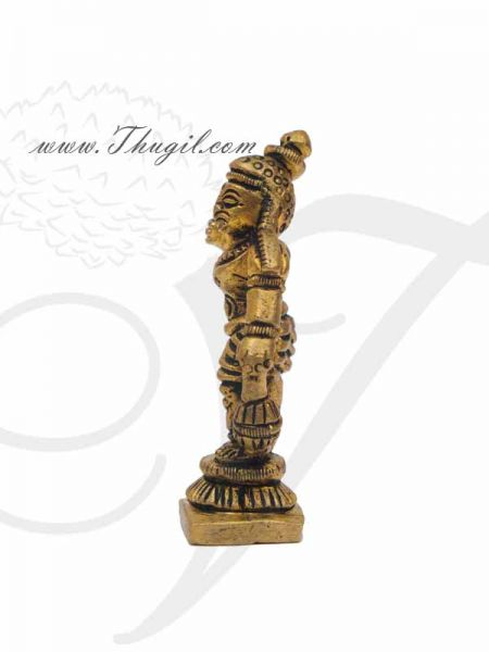 Madurai Veeran Ayyanar Brass Statue Great Warrior Of South India Statue Buy now 2.5