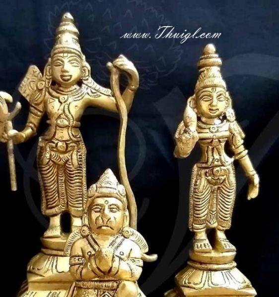 Brass Rama Sita Lakshmana and Hanuman Idol Set Buy Now 5.5