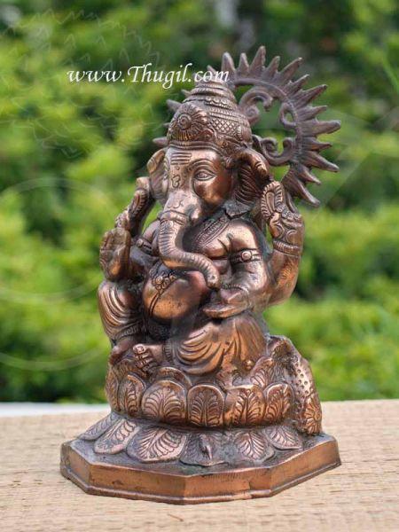 Lord Ganesha Ganesh Statue Oxidized Metal Buy Now 15 inches