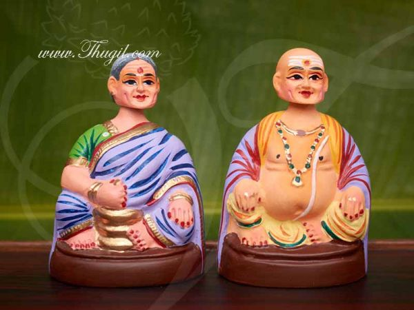 Thanjavur Traditional Dolls Thalaiyatti Bommai Chettiyar Dancing Doll Buy Online