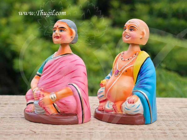 Thanjavur Traditional Dolls Thalaiyatti Bommai Chettiyar Dancing Doll Buy Online 7