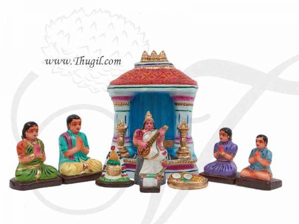 Saraswathi Puja Gollu Set Doll Bommai Navarathatri Buy Online
