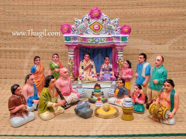Indian Wedding Gollu Set Golu Doll Bommai Marriage Navarathatri Buy Online 22 pieces