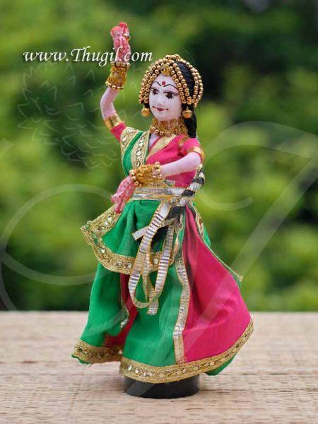 Dancing Lady Rajasthani Panihari Traditional Handmade Dancing Golu Dolls 8.5