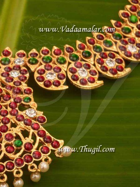 Temple Ornaments Manga mala Kemp Long Necklace Haaram